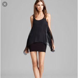Bailey 44 Manta Ray Black silk dress extra small